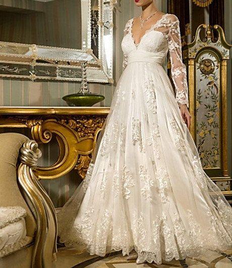 Hochzeitskleid Reine Handgemachte Hochzeitsballkleid-Spitze ...