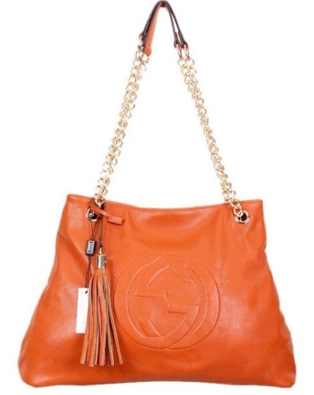 Boda - GUCCI Rust Orange Shoulder bag with Chain Straps