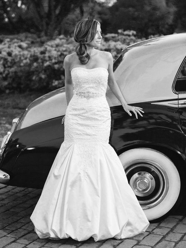 زفاف - العروس مع المهرب السيارات