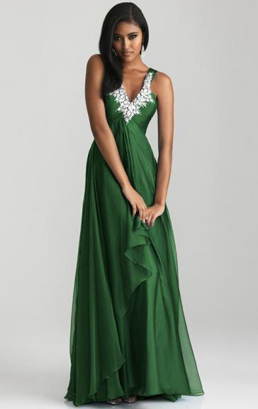 Robe cocktail vert fonce