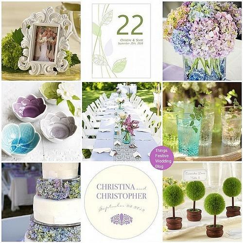 Purple Aqua And Green Garden Wedding Theme 2144620