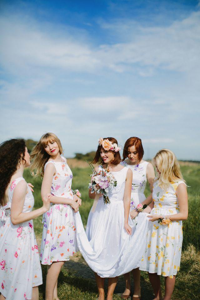 Wedding Theme - Floral Print Bridesmaid Dresses #2145515 - Weddbook