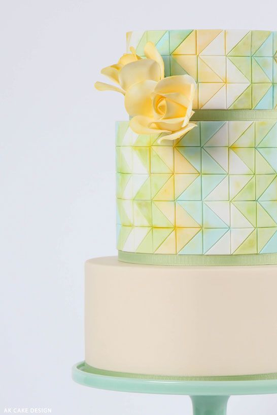 Cake Decorating Zig Zag : Wedding Theme - Pastel Zig Zag Cake #2147262 - Weddbook