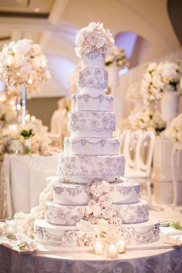 Торт - Белый И Золотой Свадебные Торты #2147478 - Weddbook