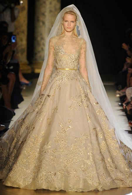 1c0bf5582 A High-Fashion Gold Wedding Dress From Elie Saab #2147704 - Weddbook