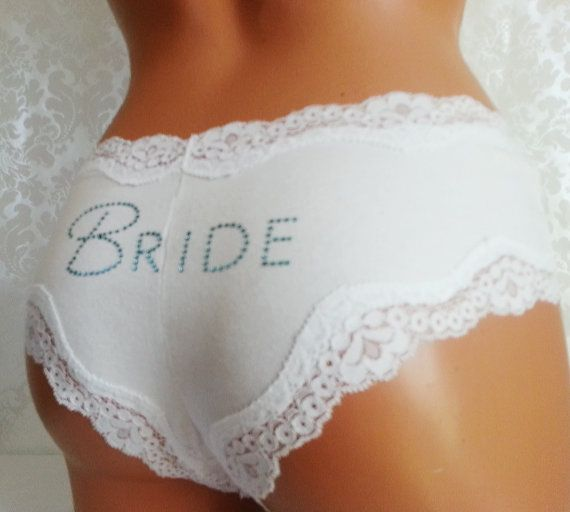 Wedding - Bridal Panties: Cream Hipkini W/ Something Blue