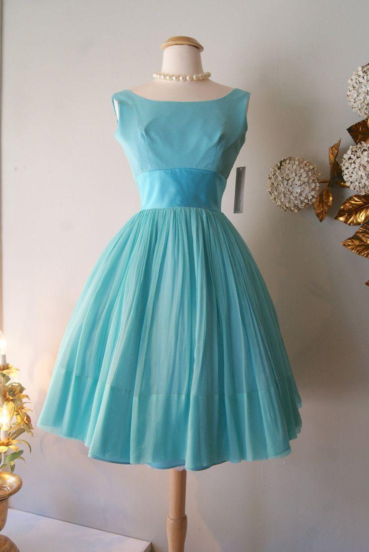 Vintage 1960\'s Dress // 1960s Sea Foam Dream Dress #2147864 - Weddbook