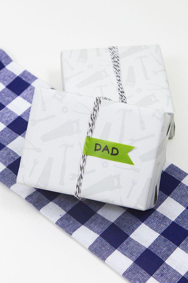 زفاف - عيد الأب أداة هدية التفاف
