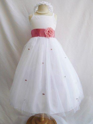 blumen m dchen kleid wei dusty rose rb3 hochzeit kinder. Black Bedroom Furniture Sets. Home Design Ideas