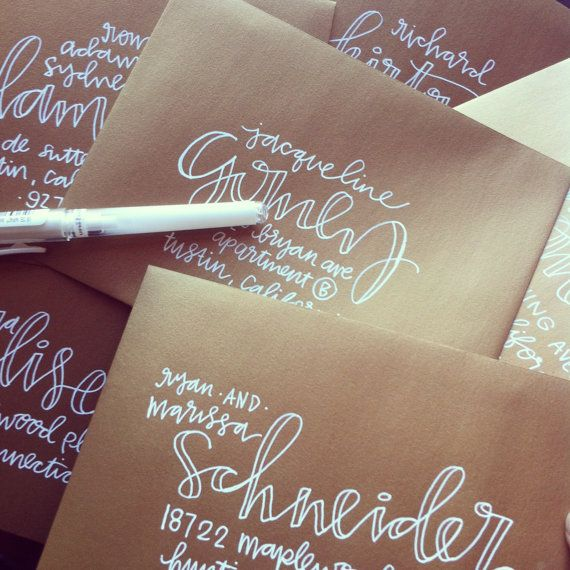 Wedding - Hand Lettering For Envelope Addresses - Several Styles Available