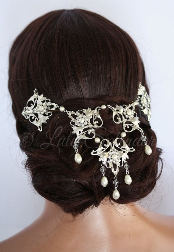 Wedding Headpiece Back Hair Piece Bridal Accessory