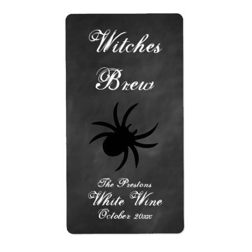 Mariage - Black Spider étiquette de vin