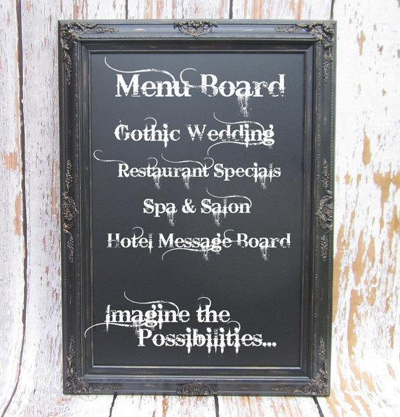 Rustic Black Framed Chalkboard EXTRA LARGE CHALKBOARD For Dining Room HuGE Menu Board 44x32 Gothic Wedding Distressed