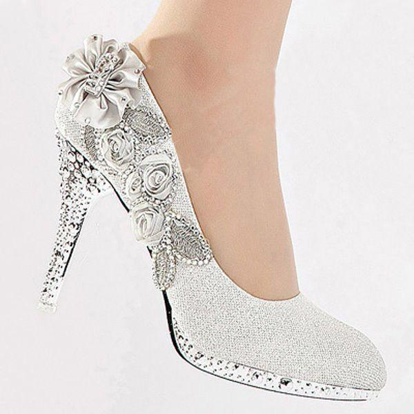 Silver Sparkly Weding Shoes 028 - Silver Sparkly Weding Shoes