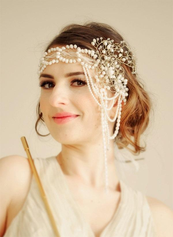 Wedding Bridal Flapper Headband Gone With The Wind - MADE To ORDER ...