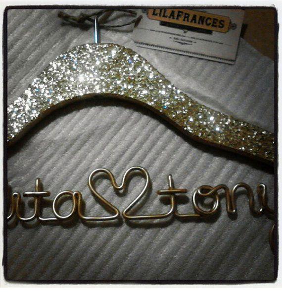 Свадьба - Гэтсби тематические блеск свадебные вешалки, Персонализированные пользовательские вешалка, невеста вешалка, имя вешалка, Люкс дл