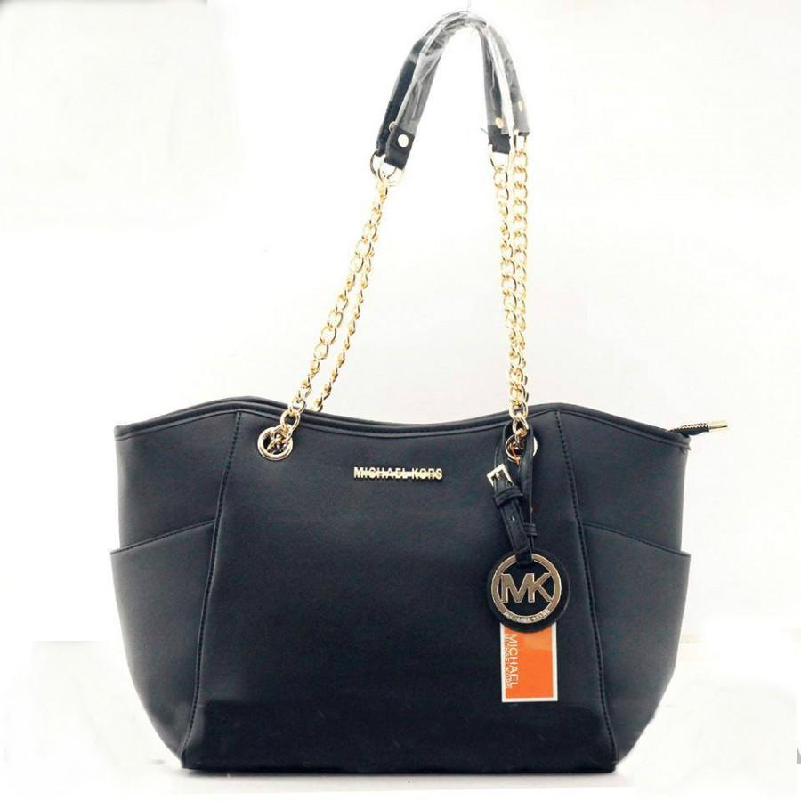 19ea79334cd7 MICHAEL KORS MK Ladies Black Tote Hand Bags  2149383 - Weddbook