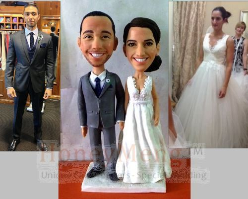 Cheap Custom Wedding Cake Toppers Head To Toe Personalized Made From Photo Unique Topper Looks Like You 1437