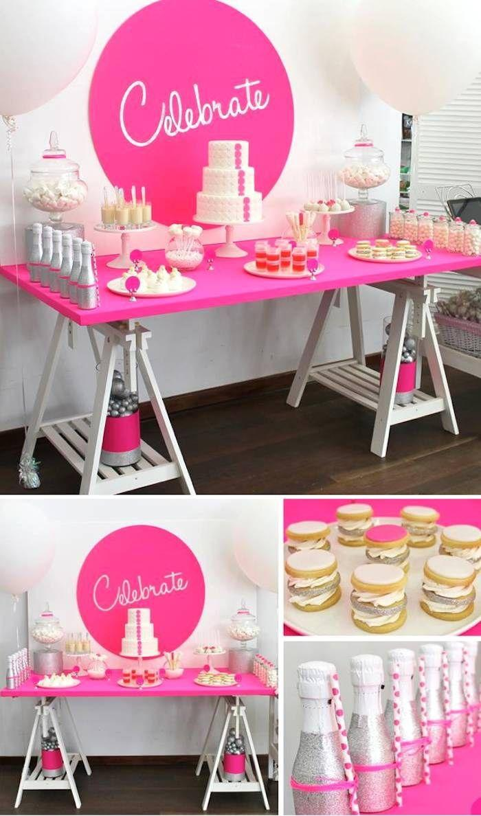 Neon Pink Celebrate Birthday Party