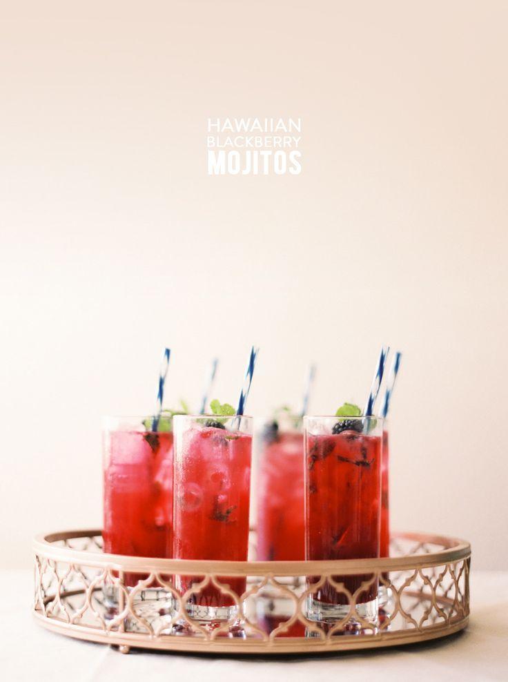 Wedding - Hawaiian Blackberry Mojitos