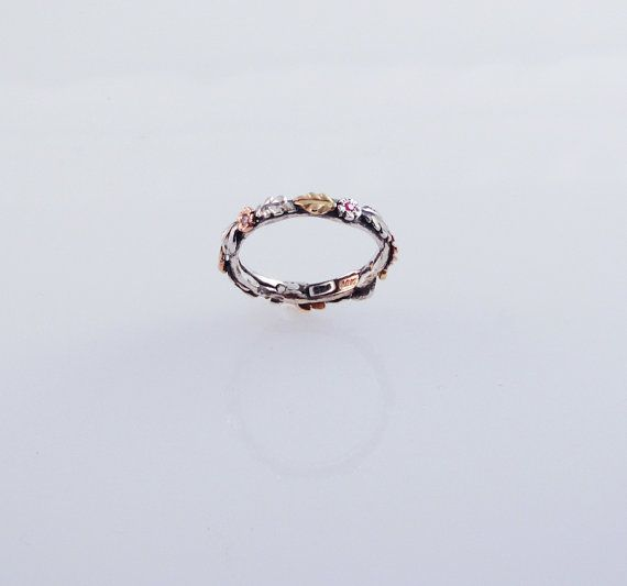 Wedding - Eco Wedding Band - In Recycled Silver And 14K & 18K Gold