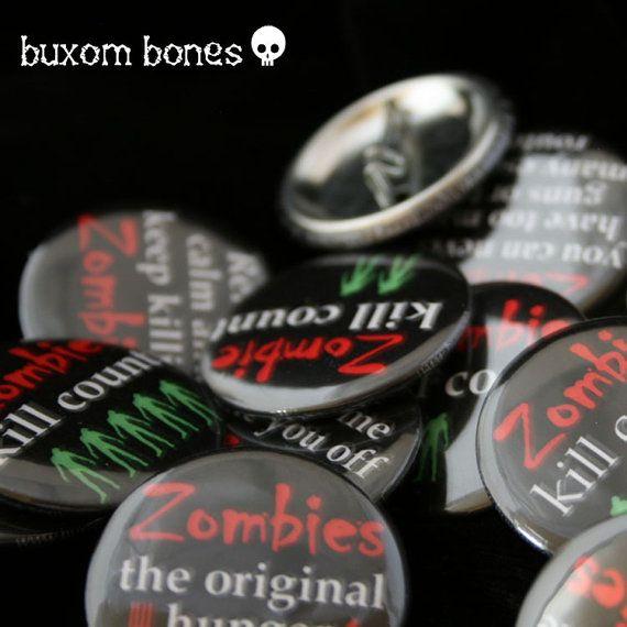 Свадьба - Зомби-Апокалипсис Кнопки - Будьте Готовы - Значки Zombie - Зомби Pinback Кнопки
