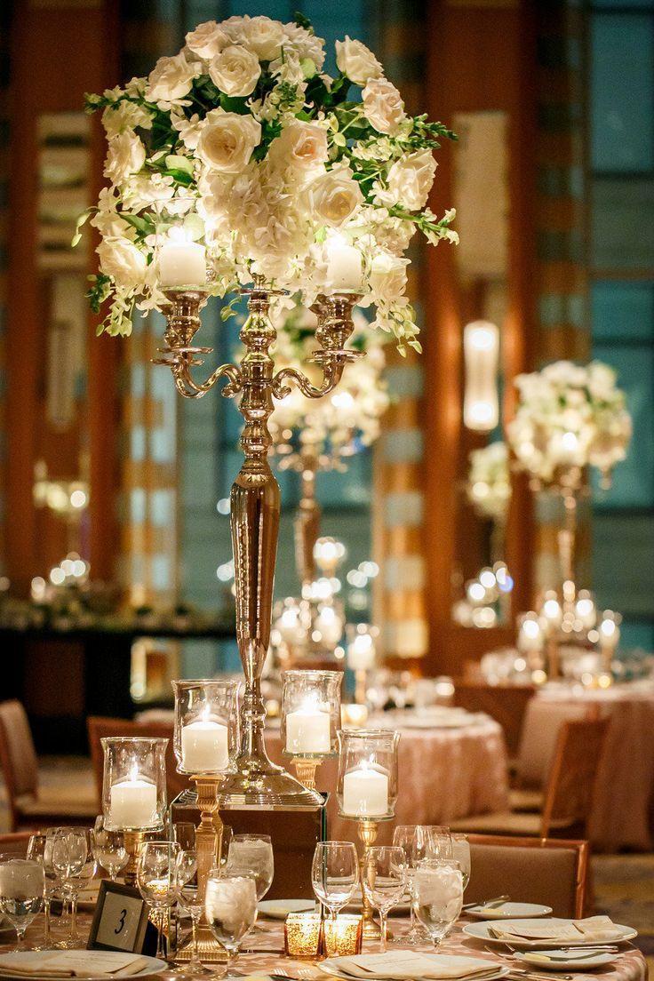 Mariage - Belle éclairage de table pour un mariage d'hiver