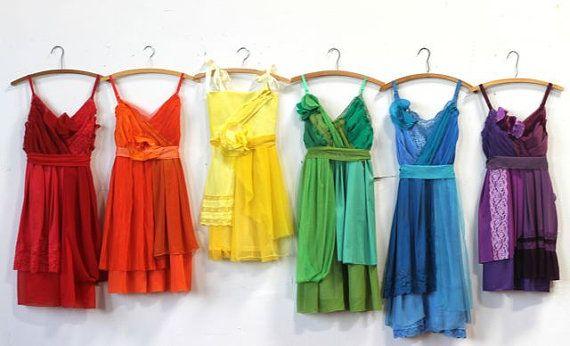 Nozze - Custom Rainbow Bridesmaids Dresses