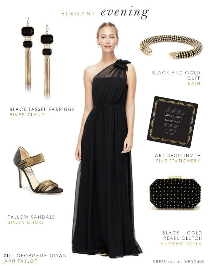 Wedding - Black Evening Gown For A Wedding