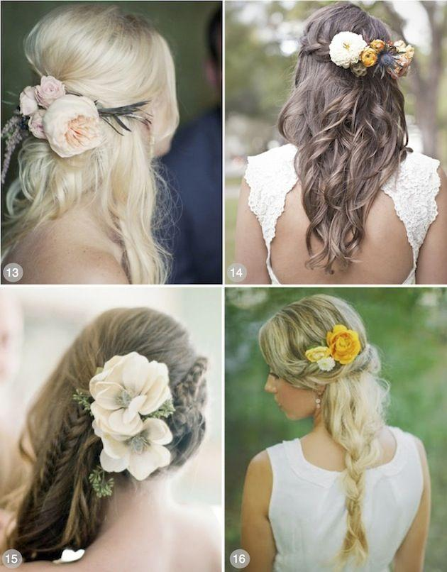 Mariage - 50 Romantic Wedding Hairstyles Using Flowers