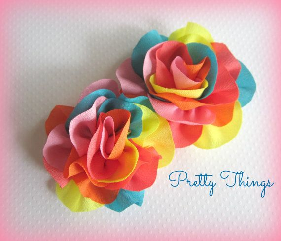 Свадьба - Multi Color Flowers -- Rainbow Flowers -- 2 Pc