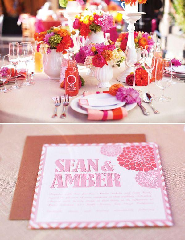 Свадьба - Wonderlandia Table #3: Pink & Orange, Tea-Inspired Wedding Theme