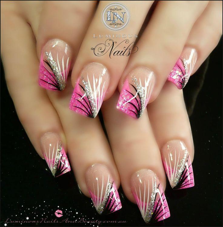 Ногти гелем розовые
