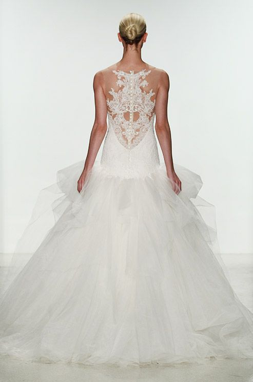 Wedding - A long lace wedding dress