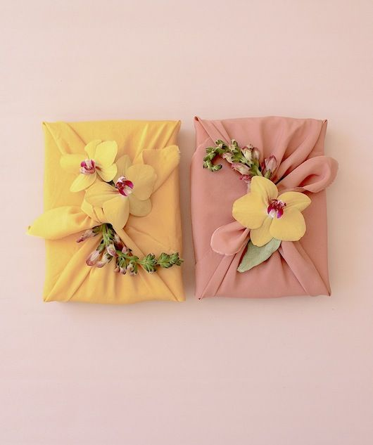 Diy Wedding Gift Wrapping Ideas : gift wrap ideas simone leblanc wrapping with fresh flowers # wrapping