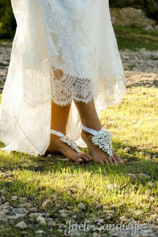 DESTINY Bridal Jewelry Destination Wedding Rhinestone Barefoot Sandals Beach Bohemian Free Shipping