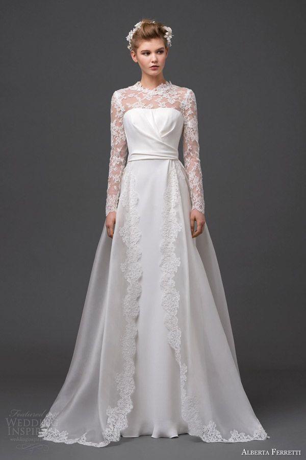 زفاف - Long Sleeved & 3/4 Length Sleeve Wedding Gown Inspiration