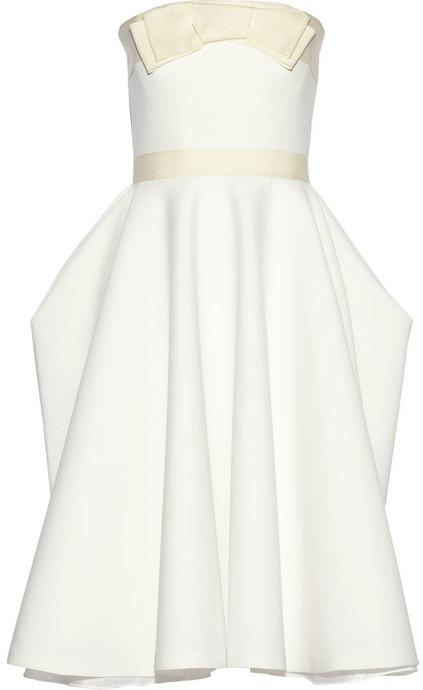 Wedding - Lanvin Grosgrain-trimmed piqué dress
