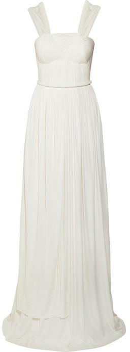 Wedding - Sophia Kokosalaki Euridice plissé jersey-crepe gown