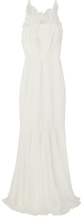 Wedding - Roland Mouret Mirah lace and stretch-crepe fishtail gown