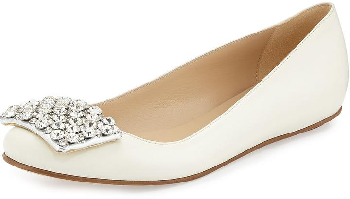 Mariage - Kate Spade New York Brilliant Jewel-Toe Ballerina Flat, Cream