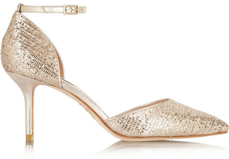 Hochzeit - Lucy Choi London Primrose Hill glitter-finished pumps