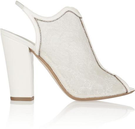 Свадьба - Nicholas Kirkwood Leather and glitter-trimmed lace sandals