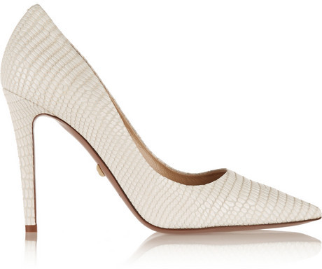 Hochzeit - Diane von Furstenberg Bethany lizard-effect leather pumps