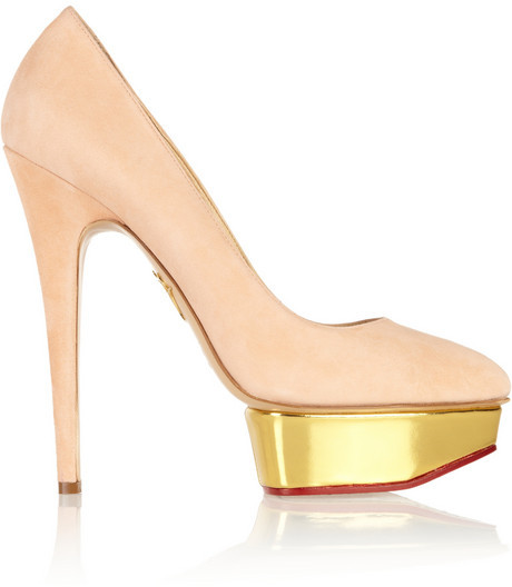 Wedding - Charlotte Olympia Cindy suede platform pumps