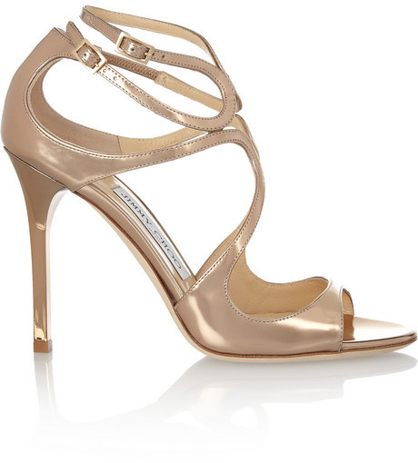 زفاف - Jimmy Choo Lang mirrored-leather sandals