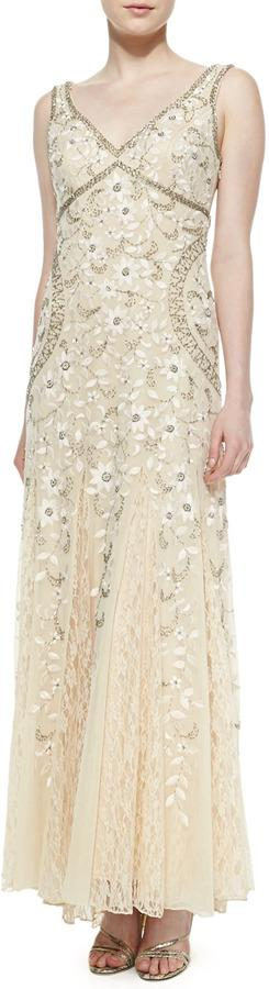 Hochzeit - Sue Wong Sleeveless Beaded Lace Bottom Gown