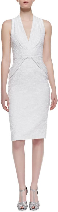 Свадьба - Badgley Mischka Collection V-Neck Twist-Front Cocktail Dress