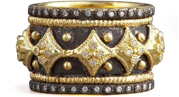 Mariage - Armenta Diamond Cravelli Cross Band Ring