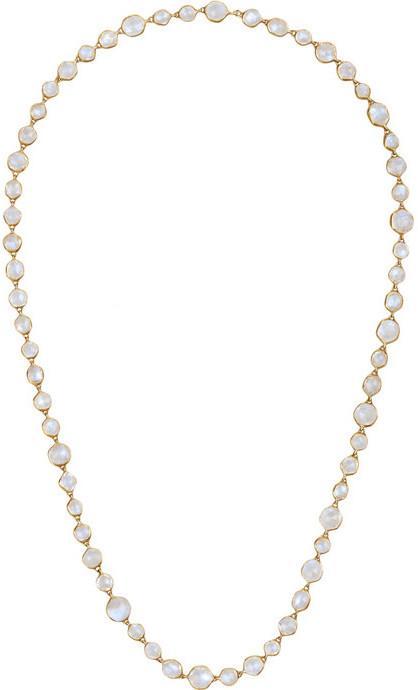 Hochzeit - MUNNU 22-karat gold moonstone necklace